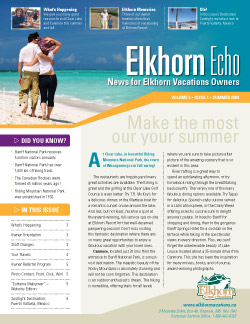 Elkhorn Echo cover - Summer 2009
