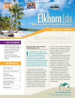 Elkhorn Echo cover - Summer 2010
