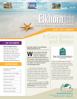 Elkhorn Echo cover - Summer 2011