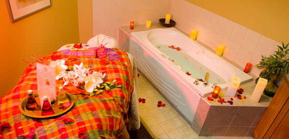 A treatment room at the Solstice Spa at Elkhorn Resort, Clear Lake, Manitoba