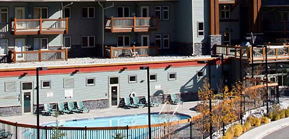 Pool area at The Lodges at Canmore, Canmore, Alberta